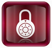 Lock off icon red — Stock Photo