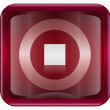 Stop icon dark red, isolated on white background — Stockfoto