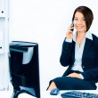 Business woman talking on the phone — Stock Photo #6294663
