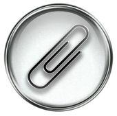 Paper clip icon grey — Stockfoto