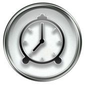 Clock icon grey — Stock Photo