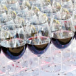 Royalty-Free Stock Photo: Glass drink red wine on buffet outdoor party