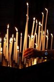 Ljus i kyrkan — Stockfoto