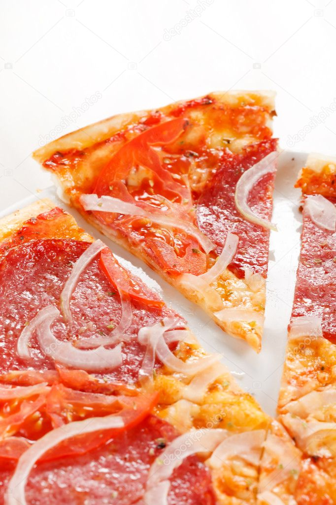Pizza with  salami  — Stock Photo #6459717