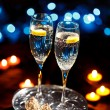 Royalty-Free Stock Photo: Flutes of champagne
