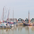 Sailboats in Marken dock — Stock Photo