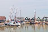 Sailboats in Marken dock — Stock Photo