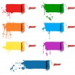 Color paint rollers — Stock Photo #6408324