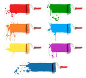 Color paint rollers — Stock Photo