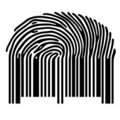 Finger print barcode — Stock Vector