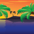 Tropical sunset — Stock Vector #6363621