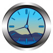 Stock Vector: The clock