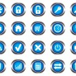 Stock Vector: A set of buttons