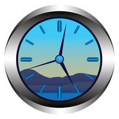 The clock — Stock Vector