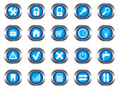 A set of buttons — Stock Vector