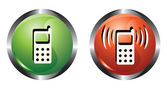 Two buttons — Stock Vector