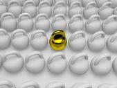 ゴールド ダンベルη πολύχρωμη διάγραμμα — ストック写真