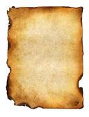Blank grunge burnt paper with dark adust borders — Stock Photo