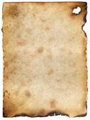 复古烧毁纸张背景 — 图库照片