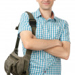 Happy man with bag — Stock Photo #6703544