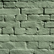 Stock Photo: Green brick wall texture
