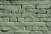 Green brick wall texture — Stock Photo
