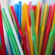 Colored drinking straws — Stock Photo