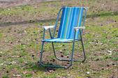 草地上的空花园椅子 — 图库照片