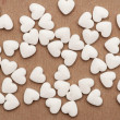 White pills in the form of heart — Stock Photo #5942111