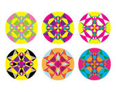 Kaleidoscope geometric pattern. Abstract vector background — Stock Vector
