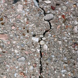 Cracked concrete wall — Stock Photo