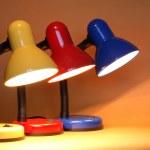 Three Desk Lamps — Stock Photo