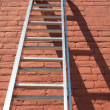Ladder Against Wall — Stock Photo