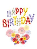 Flowers Birthday Greetings — Stock Photo