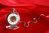 Pocket Watch On Red — Stockfoto