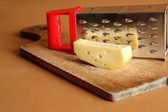 Cheese And Grater — Stock Photo
