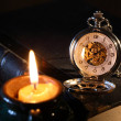 Watch And Candle — Foto de Stock