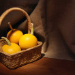 Pumpkins In The Basket — Stock Photo