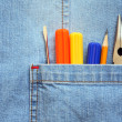 Pocket With Tools - Stock Photo