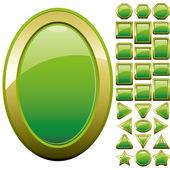 Zielony przyciski — Wektor stockowy