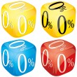 Credit dice — Stock Vector