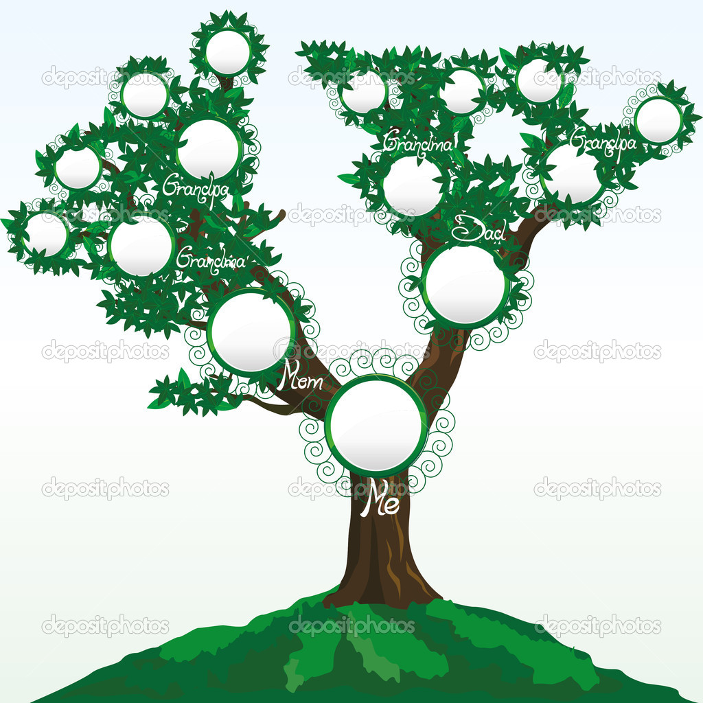 Family tree Stock Vectors, Royalty Free Family tree Illustrations ...
