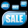 Blue Sale buttons - Stock Vector