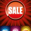 Colorful Sale buttons - Stock Vector
