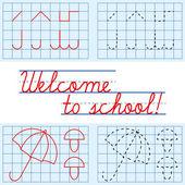 Welcome to school card — Stock Vector