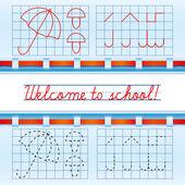 Welcome to school card 2 — Stock Vector