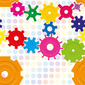 Cogwheels — Stockvektor