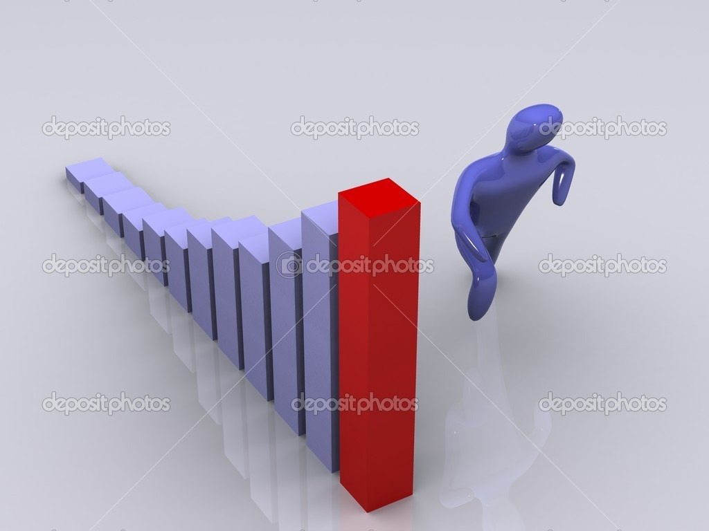 Person success diagram. 3d  Stock Photo #5840796
