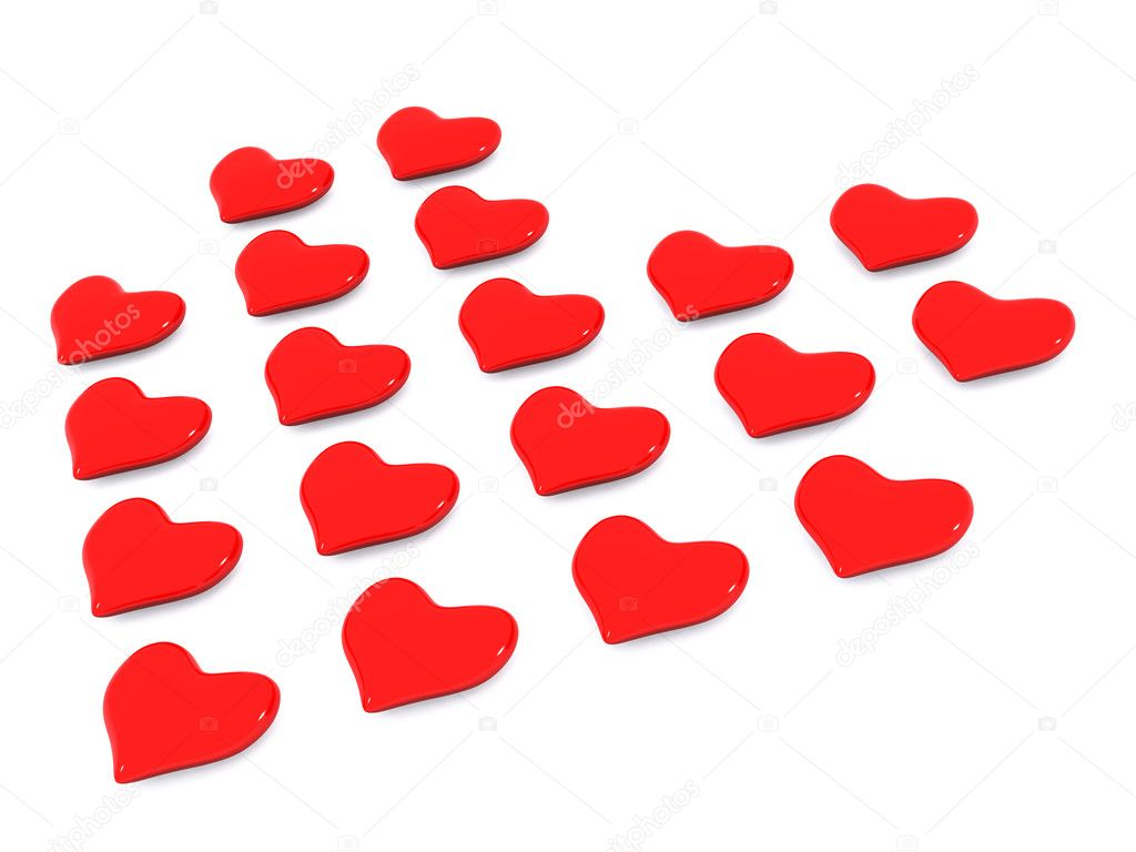 Heart background. 3d holiday valentine  Stock Photo #6103721