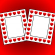 Two photo frames with hearts — Stock Photo #5883926
